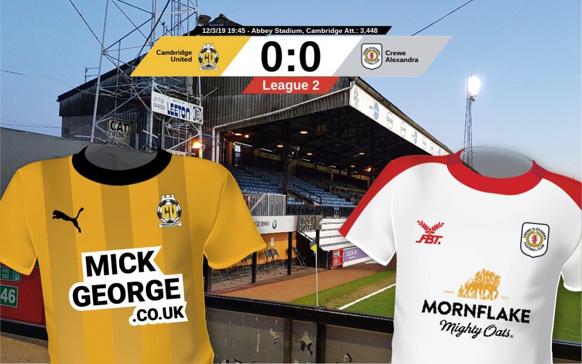 קיימברידג׳ יונייטד נגד קרו אלכסנדרה Cambridge Utd. vs. Crewe Alexandra